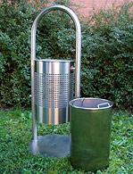 Košara za smeće Vega inox